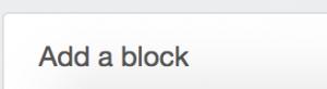 Add a block tool in left sidebar